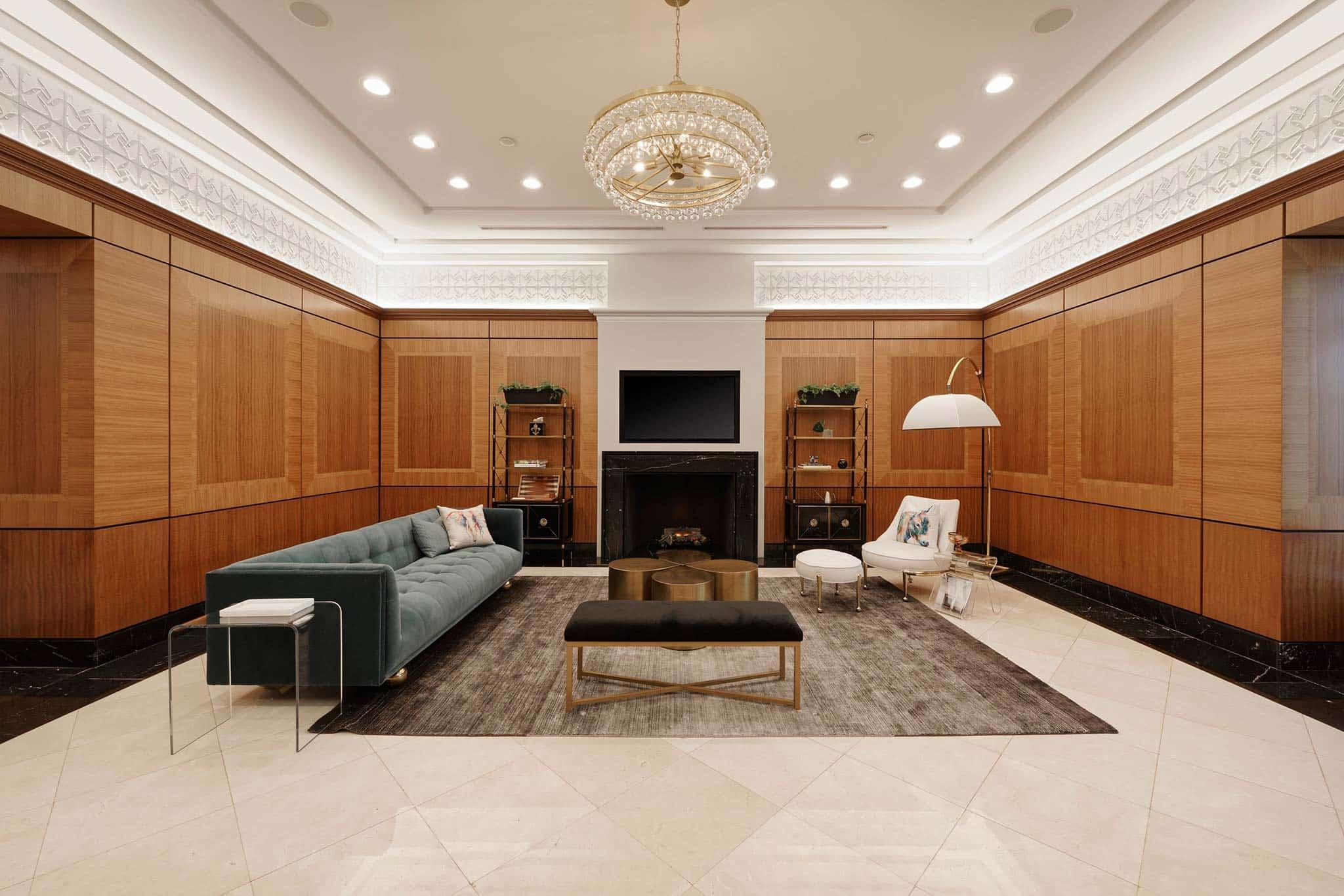 2401 Pennsylvania Avenue lobby and front desk